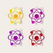 realistic design element: atom - stock illustration
