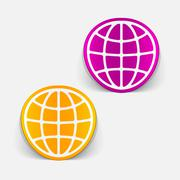 Stock Illustration of realistic design element: globe