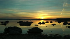 mono lake, sunrise, california, time lapse - stock footage