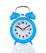 Alarm clock watch isolated on white Stock Photos