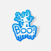 realistic design element: boo - stock illustration