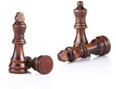 Chess figures isolated on white Stock Photos