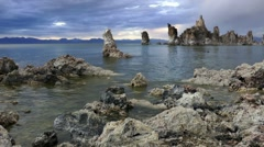mono lake at evening, california - stock footage