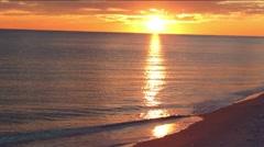Peaceful Beach sunset Stock Footage