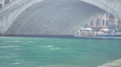 Stock Video Footage of Under the Rialto Bridge - 25FPS PAL