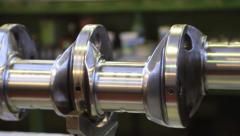 Steel crankshaft for car engine mechanisms Stock Footage