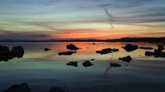 mono lake, sunrise, california - stock footage