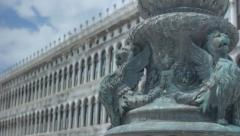 Winged Lion Statue San Marco Venice - 25FPS PAL - stock footage