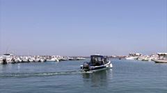 Algarve - Ria Formosa - Culatra island dock A - Boat Stock Footage