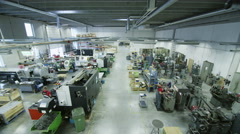 Workers in Factory. Manufacturing. Time lapse. Stock Footage