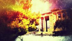 Nature on The Acropolis Stock Photos