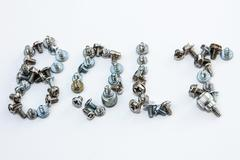 screws - the word bolt - stock photo