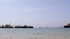 Algarve - Ria Formosa - Culatra island dock B2 Stock Footage