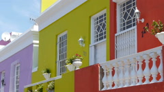 Colourful houses in cape town, south africa Stock Footage
