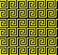 Repeating maze like design yellow Stock Illustration