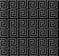 Repeating maze like design scratchy silver Stock Illustration