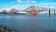 The red Forth railway bridge Stock Photos
