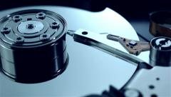 Dolly shot of Hard disk drive - stock footage