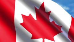 4K Canadian Flag Animation Stock Footage
