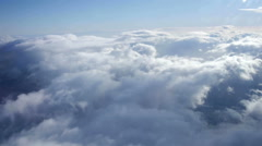 view over the clouds from a  plane - stock footage