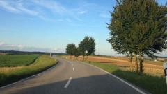 Car driving through german landscape Hyper lapse - stock footage