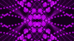 Stock Video Footage of abstract loop motion background, purple light and particle flowers