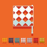 Stock Illustration of Flat design: linesman flag