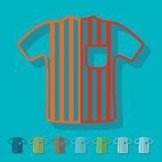 Flat design: referee - stock illustration
