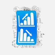 Stock Illustration of Drawing business formulas: chart
