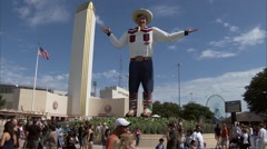 Stock Video Footage of Big Tex