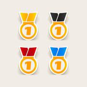 Realistic design element: medal Stock Illustration