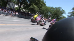 Rolling Thunder rides through Washington DC during Memorial Day weekend Stock Footage