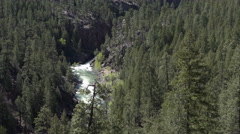 Colorado mountain river from steam engine train 4K 119 Stock Footage