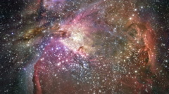 Stock Video Footage of Cosmic Orion Nebula Space Journey