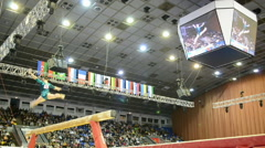 Sport gymnastics competition, Stella Zakharova Cup, Kiev, Ukraine, Stock Footage