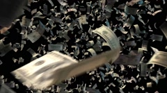 Banknotes Explosion - stock footage