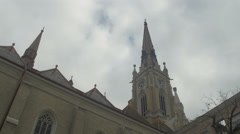 Catholic churches and old buildings [Novi sad] 4K Stock Footage