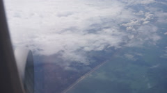Flying over the dutch coast towards the uk Stock Footage