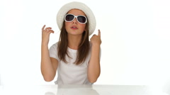 Attractive fashionable young teenager Stock Footage