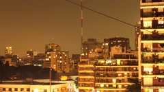 Timelapse of the nightly skyline of Buenos Aires Stock Footage