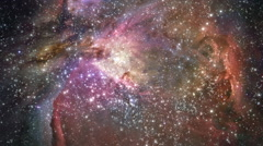 Cosmic Orion Nebula Space Journey - stock footage