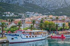 Boat in Makarska - stock photo