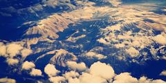 Aerial mountains Stock Photos