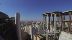 Aerial view of buildings  in the city of Sao Paulo, Brazil. View from Copan Stock Footage