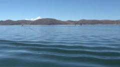 Peru Lake Titicaca island  Stock Footage