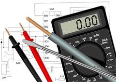 Soldering iron screwdriver and multimeter Stock Illustration
