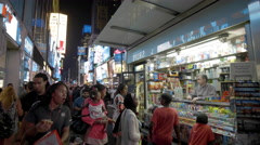 Africans Times Square Newsstand New York City Crowded Manhattan NYC USA 4K  Stock Footage