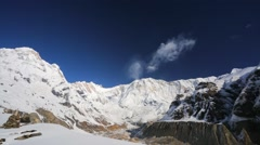 Hiking in Himalaya mountains. Stock Footage
