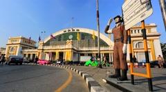 Bangkok central train station Stock Footage