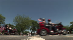 Rolling Thunder rides by the White House Stock Footage